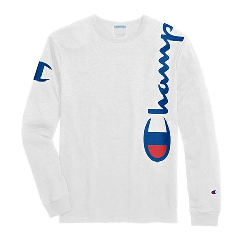 CAMISETA CHAMPION LS OVER THE SHOULDER BRANCO