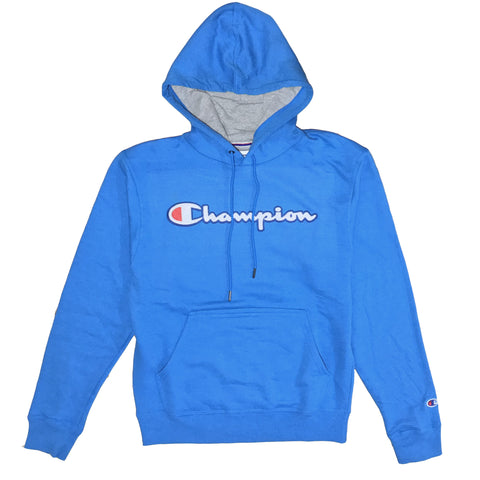 MOLETOM CHAMPION PATCH LOGO AZUL WATER
