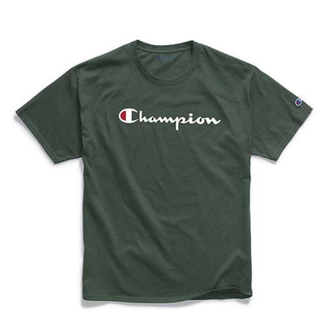 Camiseta Champion Logo Silk - Dark Green