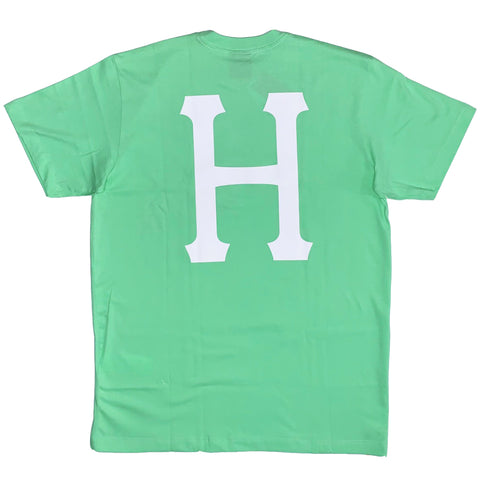 CAMISETA HUF ESSENTIALS CLASSIC H VERDE MINT