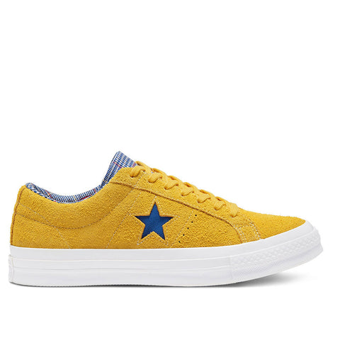TÊNIS CONVERSE ONE STAR OX AMARILLO/RUSH BLUE