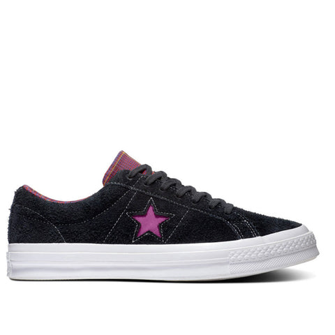 TÊNIS CONVERSE ONE STAR OX BLACK/ROSE MAROON