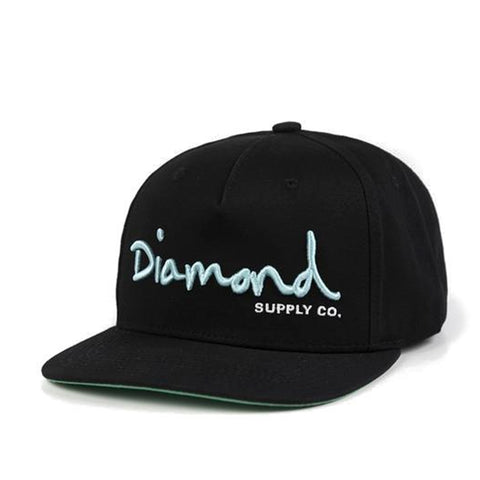Boné Diamond OG Snapback - Black