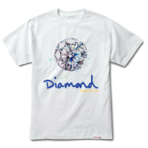CAMISETA DIAMOND SPLASH SIGN WHITE