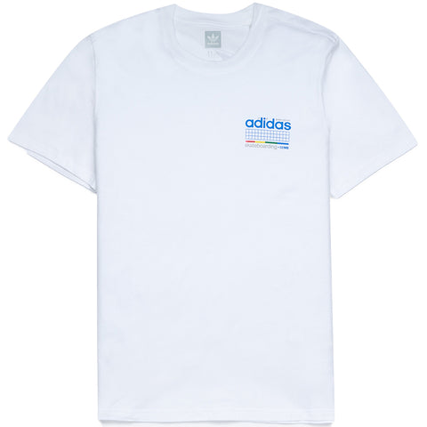 Camiseta Adidas Skateboarding Dodson - White / Blue / Green / Real Coral