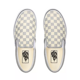 TÊNIS VANS CLASSIC SLIP-ON CHECKERBOARD SILVER/TRUE WHITE