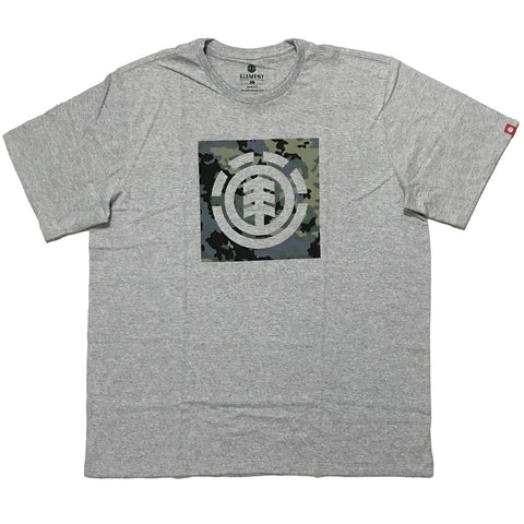 Camiseta Element Camo Block - Cinza Mescla