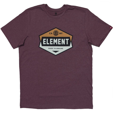 Camiseta Element Construct - Vinho