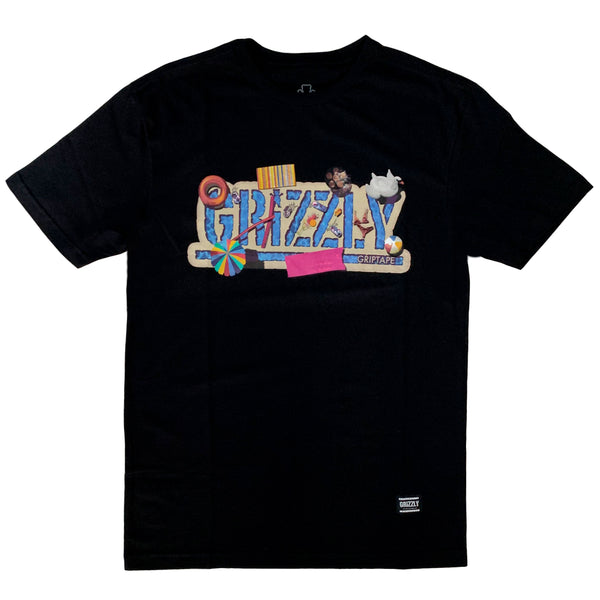 Camiseta Grizzly Pool Party - Preta