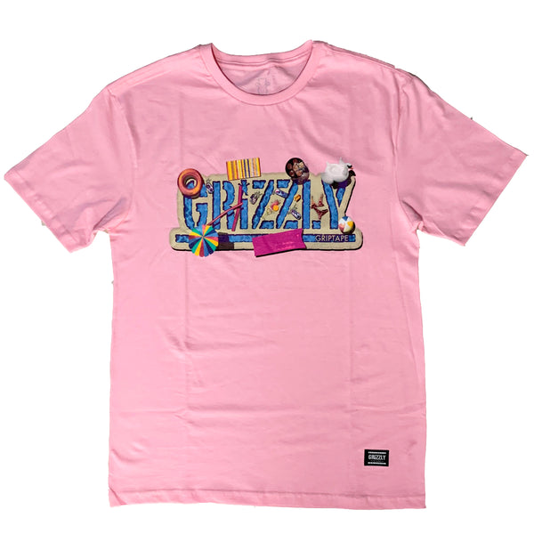 Camiseta Grizzly Pool Party - Rose