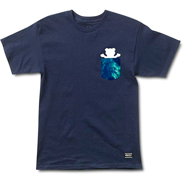 Camiseta Grizzly Deep Water Pocket - Marinho