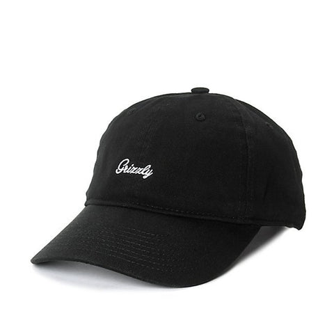 Boné Grizzly Mini Cursive Dad Hat - Preto