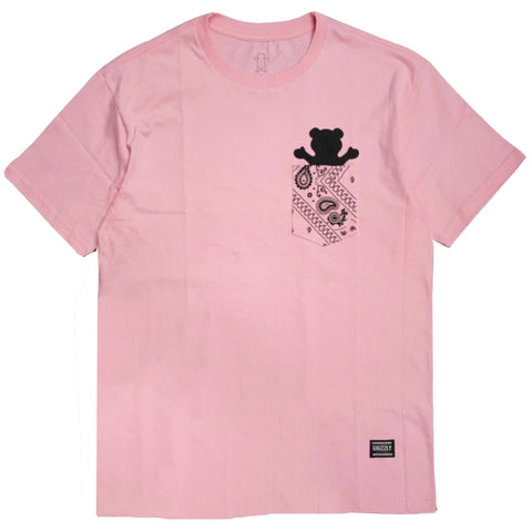 CAMISETA GRIZZLY BANDANA POCKET PINK