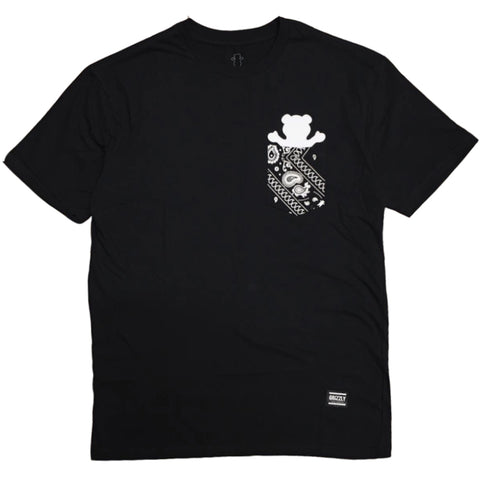 CAMISETA GRIZZLY BANDANA POCKET BLACK