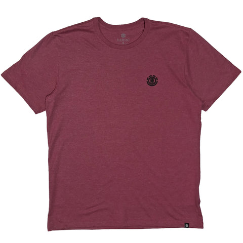 CAMISETA ELEMENT LOGO BASIC ROSA ESCURO MESCLA