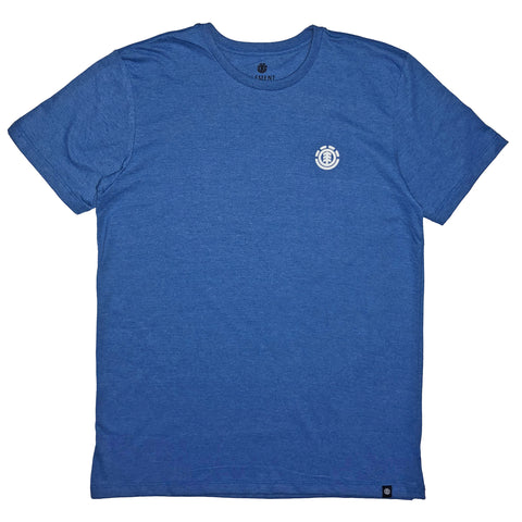 CAMISETA ELEMENT LOGO BASIC AZUL MESCLA