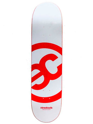 SHAPE NINECLOUDS LOGO BASIC WHITE/RED 8.0