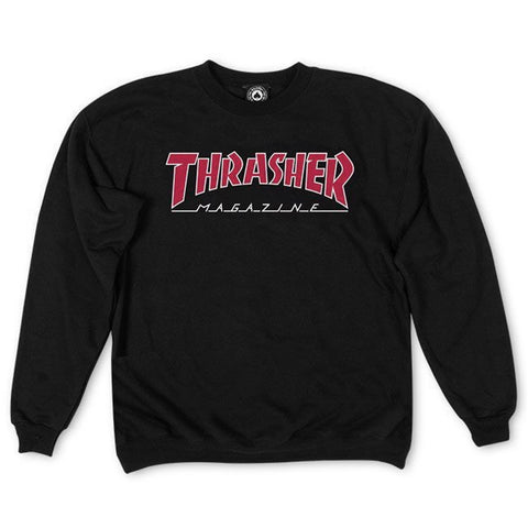 Moletom Thrasher Outlined - Preto