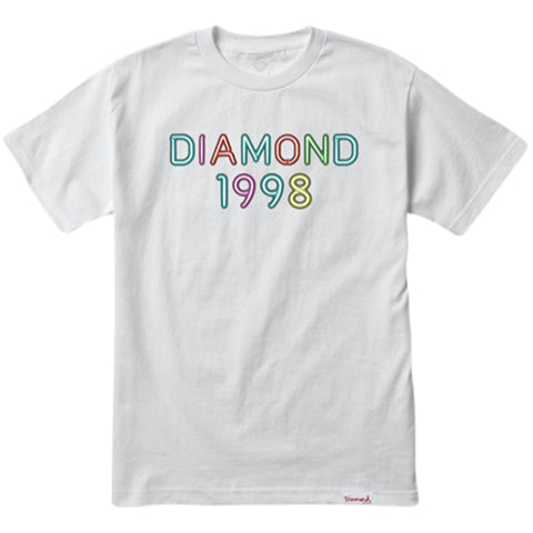 CAMISETA DIAMOND RADIANT NEON BRANCO