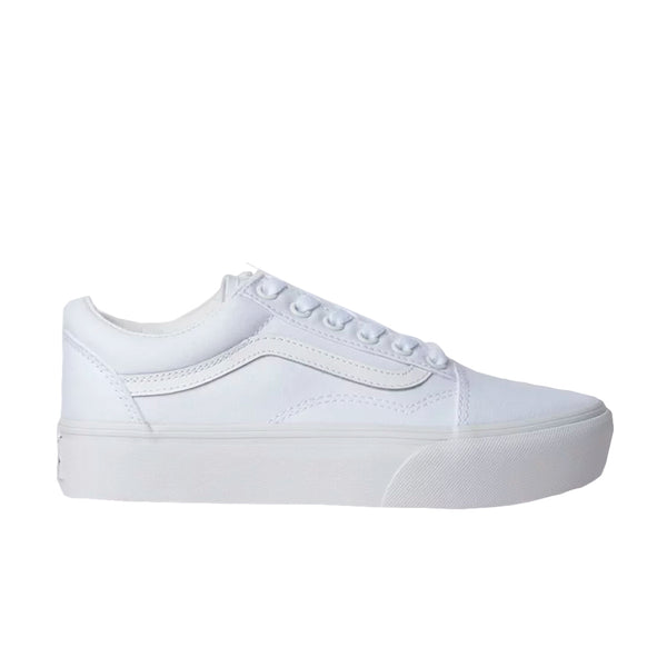 TÊNIS VANS OLD SKOOL PLATFORM TRUE WHITE