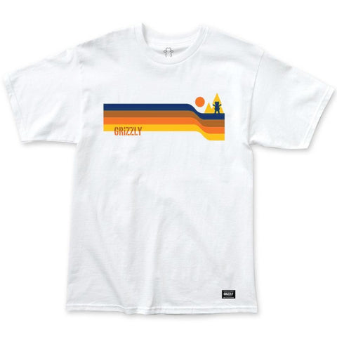 CAMISETA GRIZZLY RETRO STRIPES BRANCO