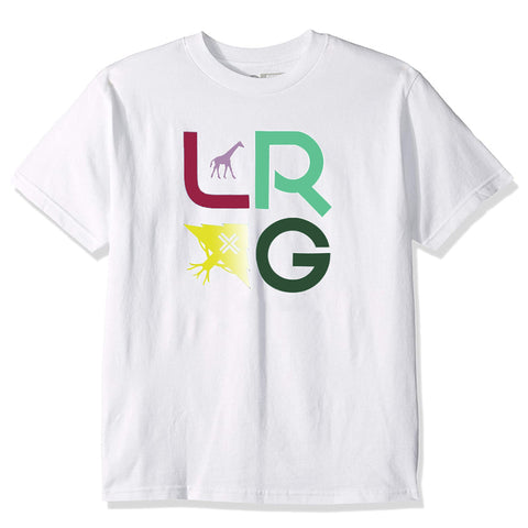 CAMISETA LRG STACKED WHITE