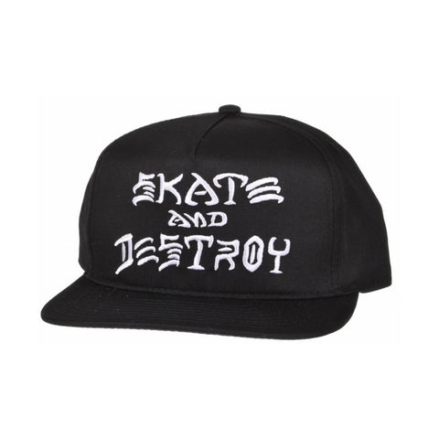 Boné Thrasher Skate and Destroy Snapback - Black