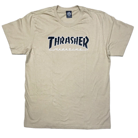 CAMISETA THRASHER OUTLINED KHAKI