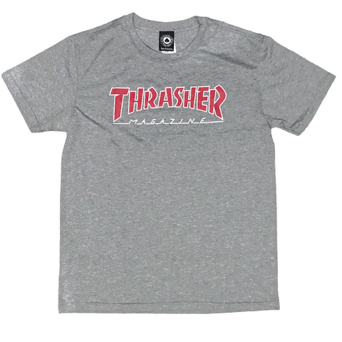Camiseta Thrasher Skate Mag Outlined - Cinza Mescla