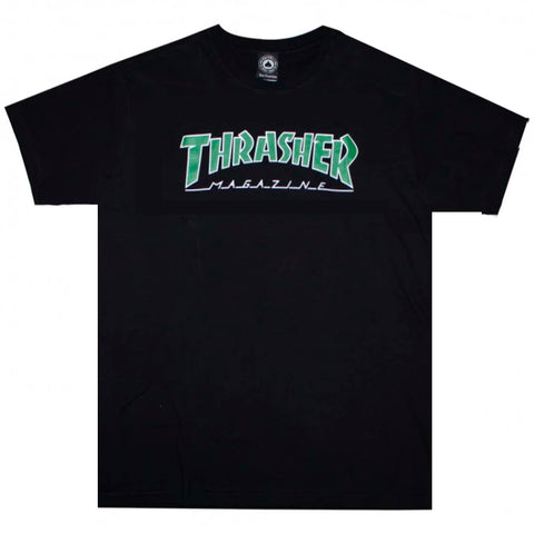 Camiseta Thrasher Skate Mag Outlined - Preto