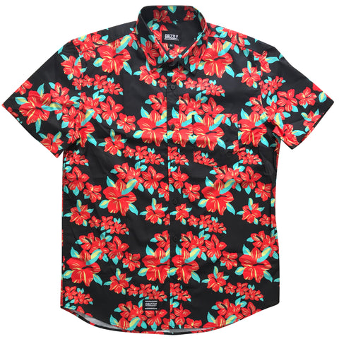 CAMISA GRIZZLY TROPICAL BUTTON-UP BLACK