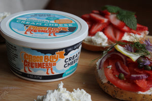 Cream Cheese by Casco Bay Creamery, Cultured Cream Cheese, Whipped Cream Cheese