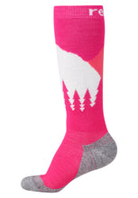 Laden Sie das Bild in den Galerie-Viewer, Reima Kinder Stricksocken Ski Day Rasperry Pink