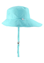 Laden Sie das Bild in den Galerie-Viewer, Reima Kinder Sonnenschutz Hut Tropical Light Turquoise