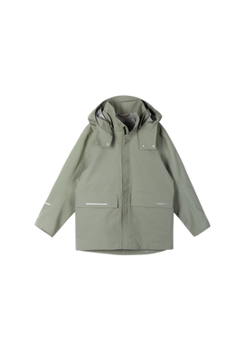 Reima Recycelbare Kinderjacke Voyager in Greyish Green