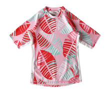 Laden Sie das Bild in den Galerie-Viewer, Kinder Sonnenschutz T-Shirt Fiji Bright Red Leaves