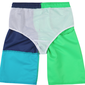 Kinder Badeshorts Wavepower Brave Green