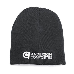 Anderson Composites Black Knit Beanie-Stitched Logo