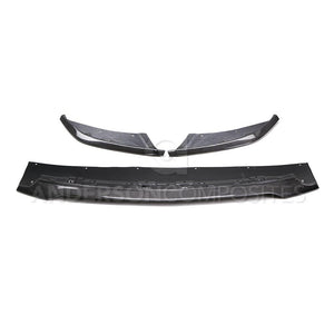 Anderson Composite 2015-2018 Mustang Shelby GT350 Carbon Fiber Front Splitter (3 PC)