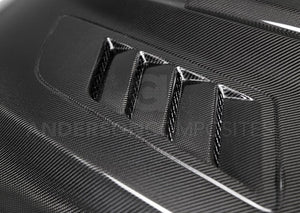 Anderson Composite 2015-2017 Mustang Double Sided Carbon Fiber Ram Air Hood