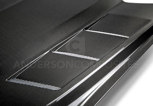 Anderson Composite 2015-2017 Mustang Double Sided Carbon Fiber Heat Extractor Hood