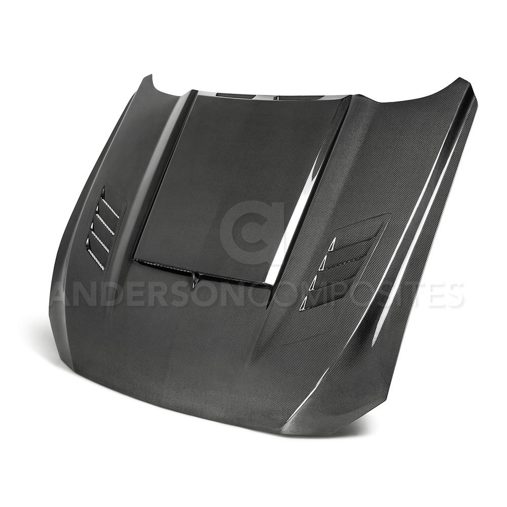 Anderson Composite 2018-2019 Ford Mustang Ram Air Double Sided Carbon Fiber Hood