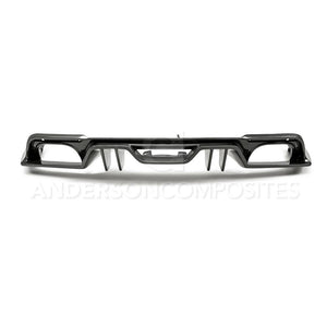 Anderson Composite 2018-2019 Ford Mustang Type-AR Carbon Fiber Quad Tip Rear Diffuser