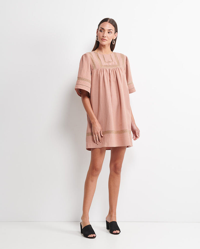 Stella Lace Trim Dress