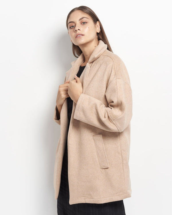 Zaylee Wool Felt Coat