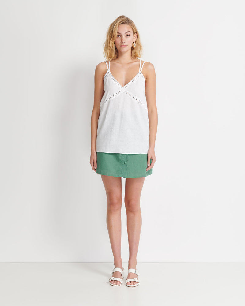 Holly Linen Cotton Camisole (White)