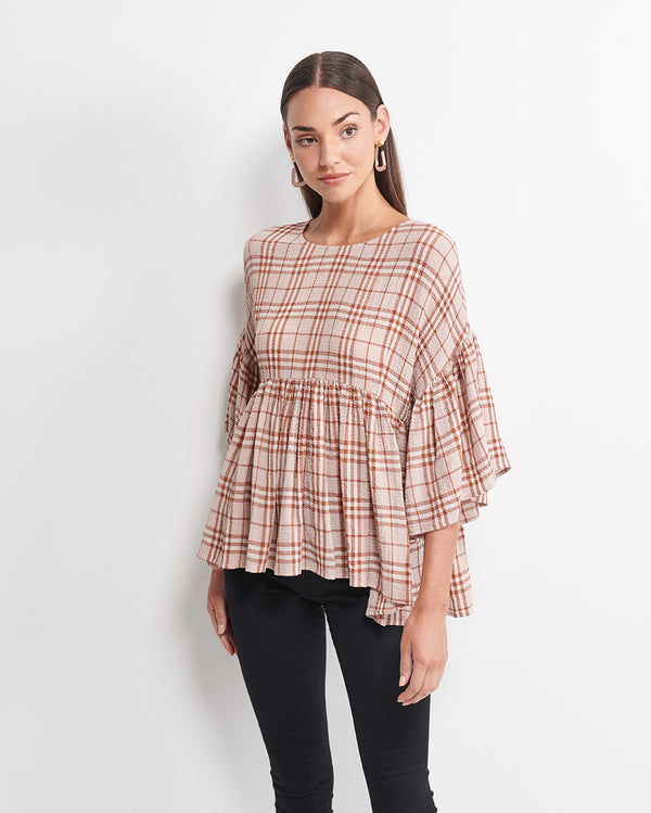 Elinor Check Top