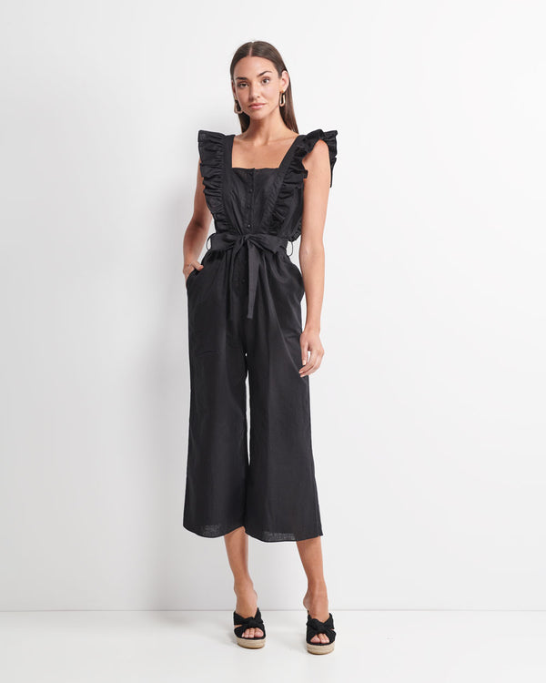 Layla Linen Cotton Jumpsuit