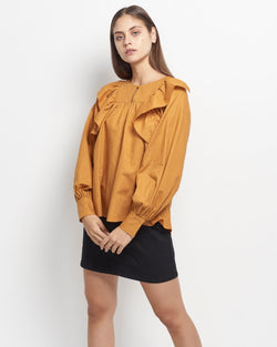 Marian Linen Cotton Blouse
