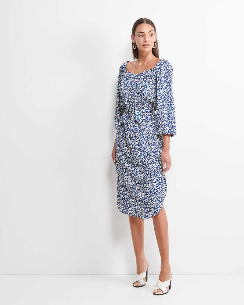 Elinor Animal Midi Dress